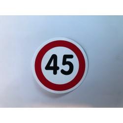 45 km sticker (Ø 11cm)